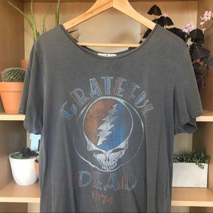 Oversized Distressed Grateful Dead 1976 Graphic